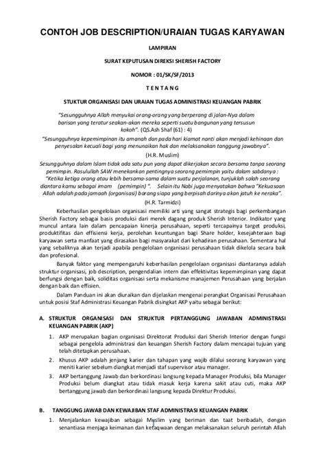 Contoh Surat Perjalanan Dinas Direksi by Contoh Peraturan Perusahaan Bucah