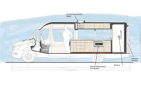 Rv Garage Floor Plans mcm design custom motorhome design 3