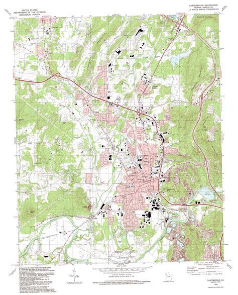 cartersville map cartersville topographic map ga usgs topo 34084b7