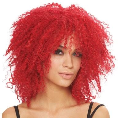 pop star with red curly hair pop star curly red rhianna adult womens costume wig
