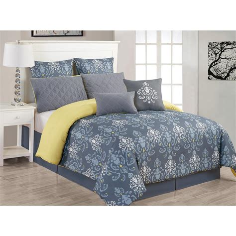 duck river comforter set duck river lucienda 8 piece grey and green queen comforter