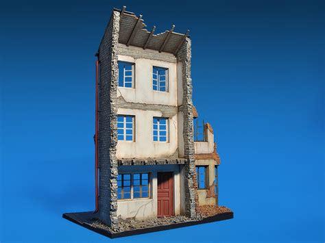 casa alemana ecomodelismo casa alemana en ruinas dioramas 1 35