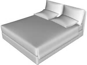 3d Bed Bed Flou Model Nathalie 3d Model Download 3d Cad Browser