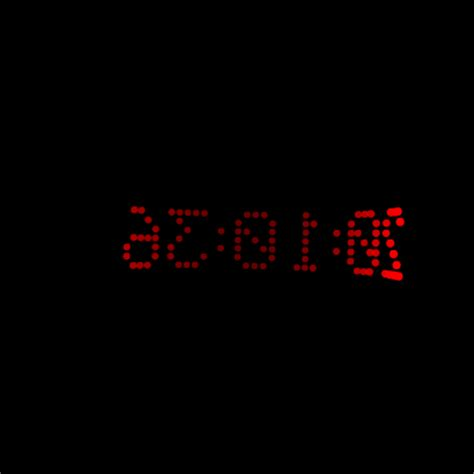 nokia belle apps: animated red digital clock 1.0 for nokia