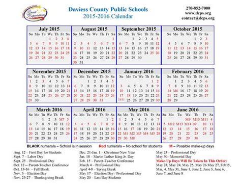 District 54 Calendar Whitesville Elementary