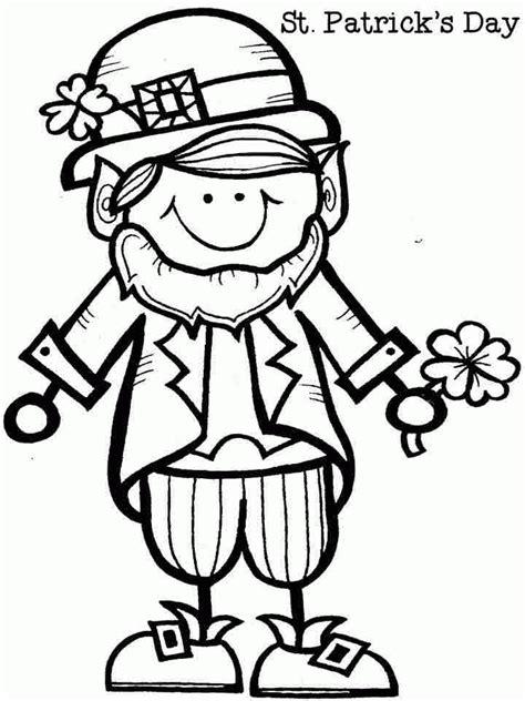 leprechaun coloring page pdf coloring pages saint patrick leprechaun free for boys