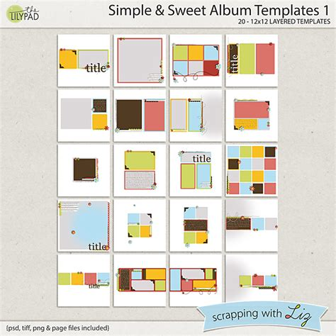 Digital Scrapbook Template Simple Sweet Album Scrapping With Liz Simple Store Template