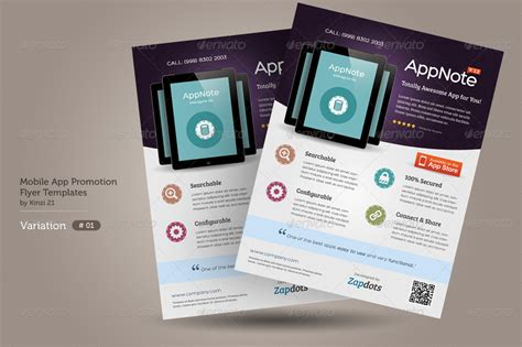 Mobile App Promotion Flyers Graphicriver App Promo Template