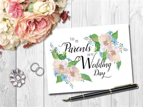 Thank You Cards To Parents For Wedding