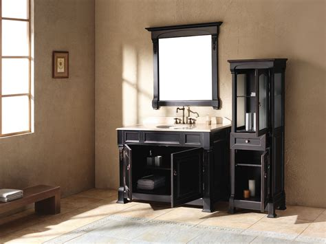 black bathroom vanity achieving the finest accent