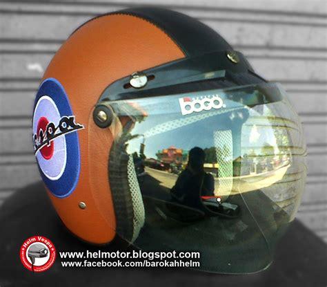 Helm Bogo Motif Vespa helm bogo vespa logo coklat helm vespa