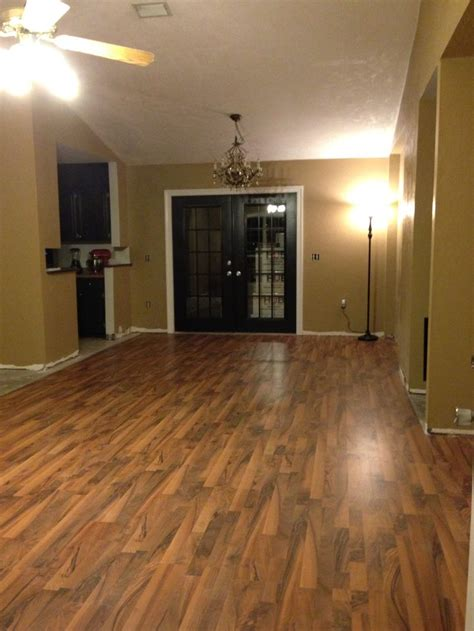Laminate Flooring Techniques Laminate Floor Doors And Trim Along With Brown Walls