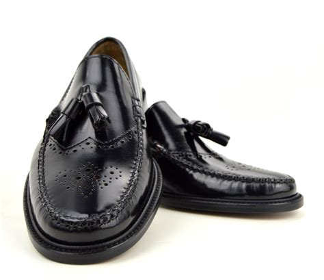 brogues and loafers tassel loafer brogues in black the lord brogue mod shoes