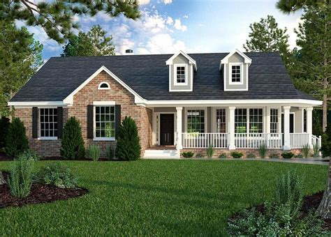 house plans with covered porches plan 31093d great ranch house plan wrap around