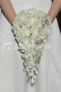 real touch brooch long cascading bridal