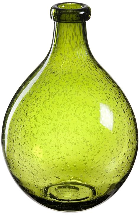 Green Decorative Vases Bulle Olive Green Glass Vase Decorative Vases