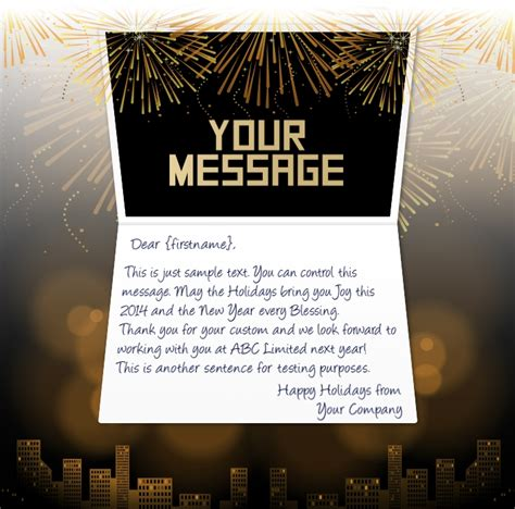 new year company business new years cards corporate happy new year