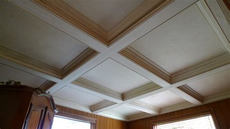 coffered ceilings poplar coffered ceiling probuilt woodworking