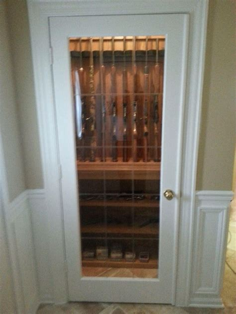 built in gun cabinet closet gun cabinet my is so crafty built in ideas