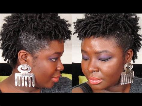 STYLES FOR SHORT NATURAL HAIR   FAUX HAWK FINGER COIL OUT