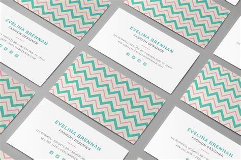 multicolor chevron business card template chevron business card template inspiration cardfaves