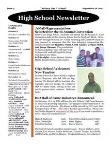 College Newsletter High School Newsletter Ideas