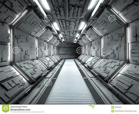 space interno futuristic spaceship interior stock illustration image