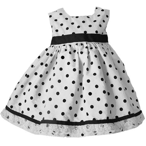 Black and white polka dot baby and toddler dress lucky skunks baby toddler clothes