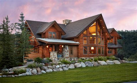 Colorado Style Home Plans by Charming Log Residence In Colorado Unveiling Spectacular