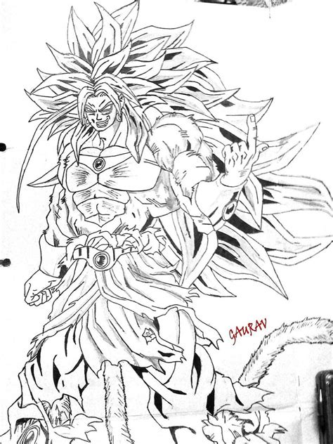 broly ssj4 coloring pages coloring pages