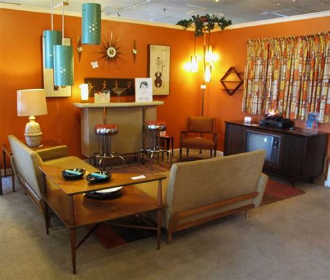50 living room decorating ideas living rooms orange retro living room too dark for me but love the design