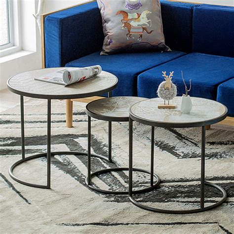 stylish living room round table sets your dream home simple style modern minimalist loft industrial iron wood