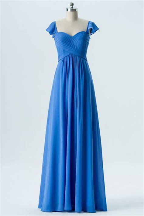 Robe Bustier Bleu Roi Mariage - vintage robe bleu roi bustier cœur 224 mancherons pour