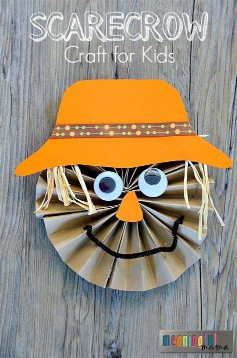 Paper Fall Crafts - scarecrow paper craft for for crafts for