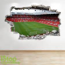 Manchester United Wall Sticker manchester united stadium wall sticker 3d look boys kids football