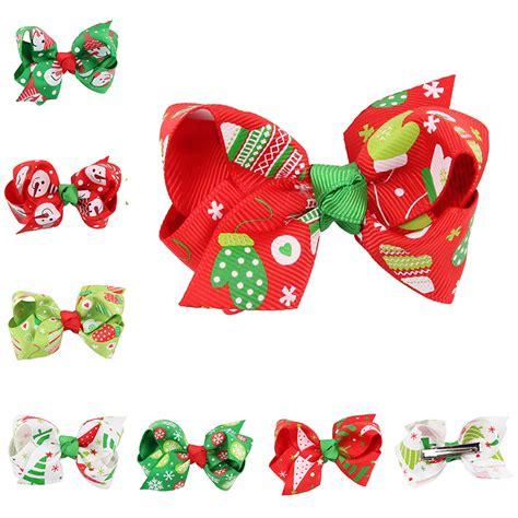 Green Gifts Hair Clip gift hair ribbon bows green handmade hair