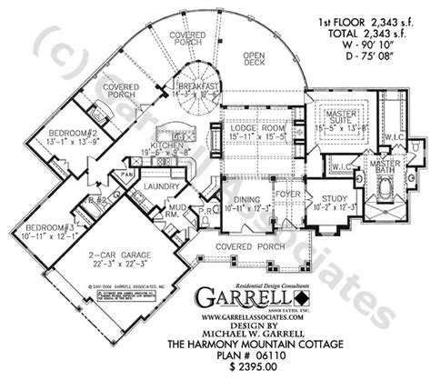 mountain floor plans harmony mountain cottage house plan active adult house plans