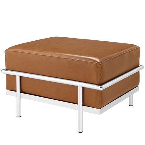 large leather ottomans simple large leather ottoman modern furniture brickell