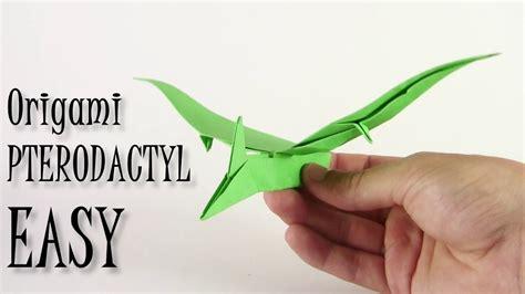 Origami Dinosaur Easy - c 243 mo hacer un dinosaurio origami pterodactyl como fazer