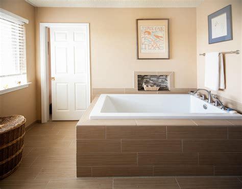 faux wood tile bathroom faux wood tile equals calm bathroom remodel traditional