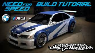 Need For Speed Bmw Need For Speed 2015 Most Wanted Bmw M3 Gtr Build