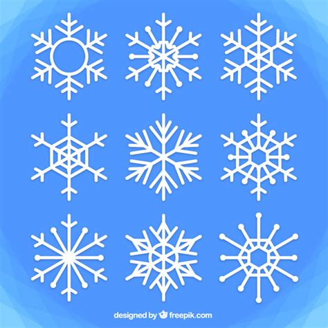 snowflake geometric pattern snowflake vector 187 geometric snowflake vector free