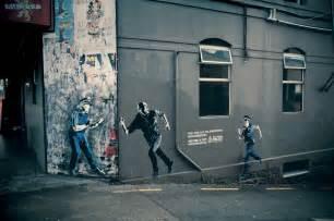 Street Art by Mystery Fanfare New Zealand Advertising Street Art