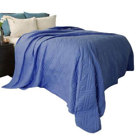 Solid Navy Quilt Lavish Home Solid Color Navy Bed Quilt 66 40 T N