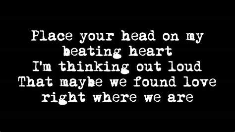 ed sheeran out loud lyrics ed sheeran quot thinking out loud lyrics official audio youtube