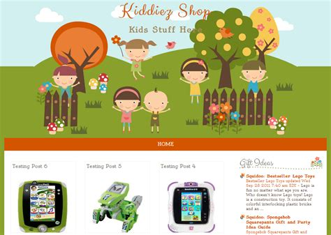 shop template kiddiez shop template free template