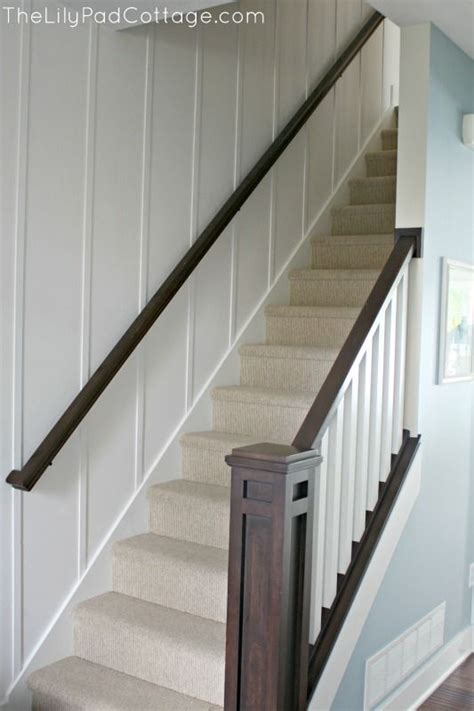 Stair Banister Ideas Bq by New Entry Decor And Planked Wall Basement Remodel