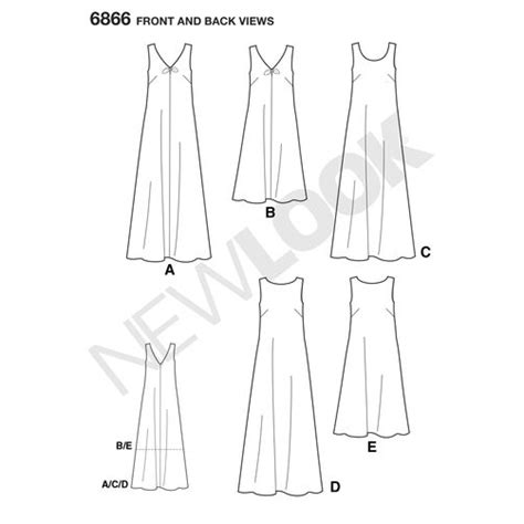 pattern review new look 6866 pattern for misses dresses simplicity