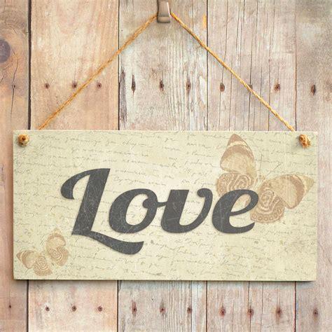 love home decor sign love handmade shabby chic home decor sign plaque