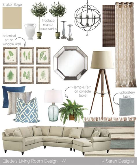 Living Room Mood Board mood boards a welcoming relaxing living room kitchen and dining room k designs